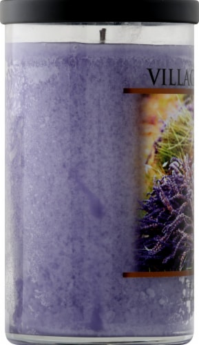 Village Candle French Lavender Candle - Purple Perspective: left