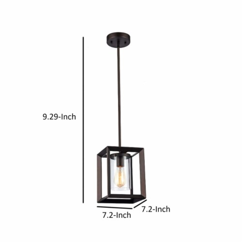 IRONCLAD Industrial-style 1 Light Rubbed Bronze Ceiling Mini Pendant 7  Shade Perspective: left