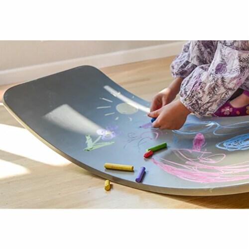 Kinderfeets Original Kinderboard Versatile Wood Balance Board, Chalkboard Perspective: left