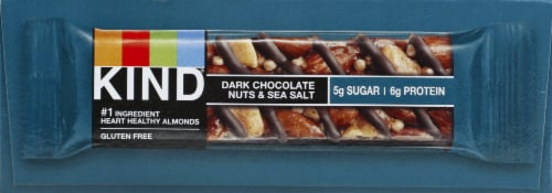 KIND Dark Chocolate Nuts & Sea Salt Bars Perspective: left