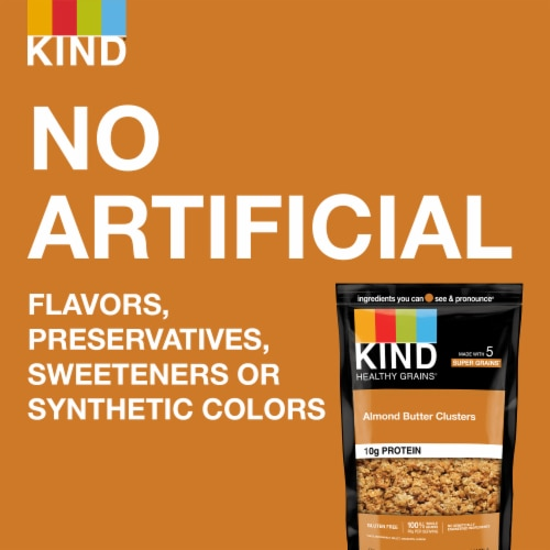 KIND Healthy Grains Almond Butter Whole Grain Clusters Perspective: left