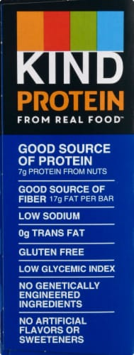 KIND Protein Dark Chocolate Nut Bars 5 Count Perspective: left