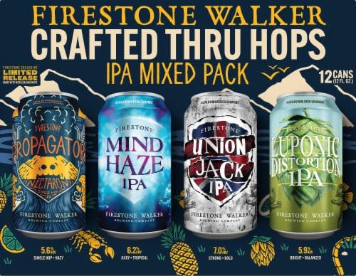 Firestone Walker IPA Mix Variety Pack Beer Perspective: left