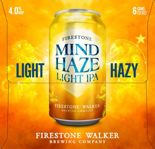 Firestone Walker Flyjack Hazy IPA Beer 6 Cans Perspective: left