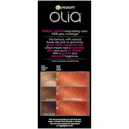 Garnier Olia Bold Intense Fire Ruby 7.45 Hair Color Perspective: left
