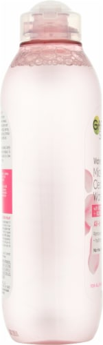 Garnier All-in-1 Hydrating Micellar Cleansing Water with Rose Water Perspective: left