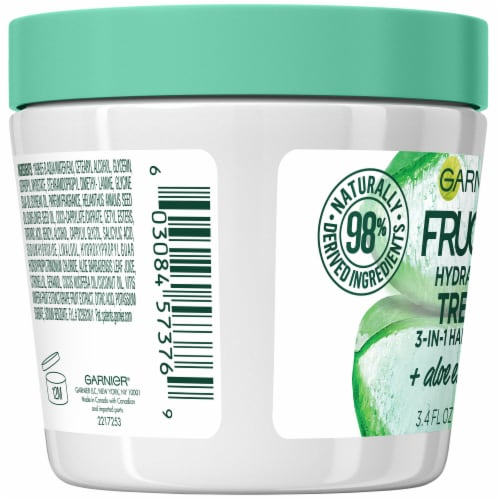 Garnier® Fructis® Hydrating Treat 1 Minute Aloe Extract Hair Mask Perspective: left