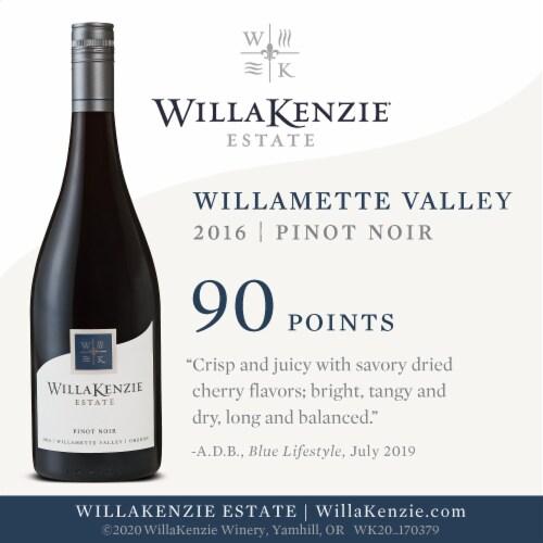 WillaKenzie Estate Pinot Noir Red Wine Perspective: left