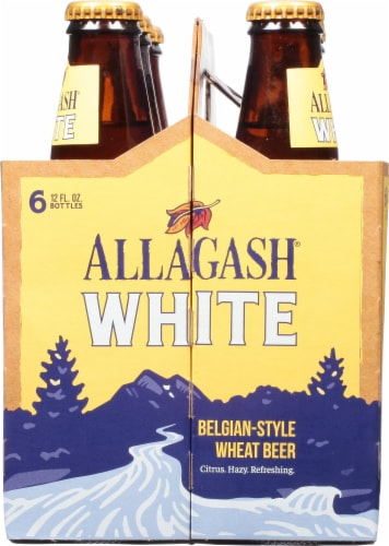 Allagash White Belgian-Style Wheat Beer Perspective: left