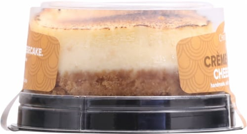 Chuckanut Bay Foods Creme Brulee Cheesecake Perspective: left