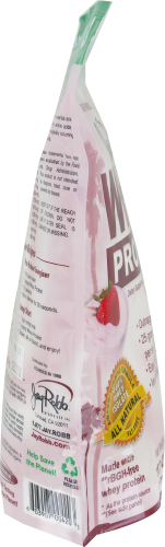 Jay Robb Strawberry Whey Protein Perspective: left