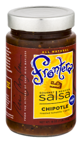 Frontera Gourmet Mexican Chipotle Hot Salsa Perspective: left