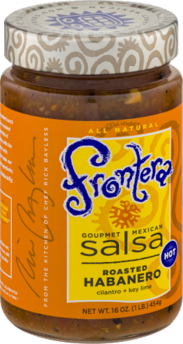 Frontera Gourmet Mexican Roasted Habanero Hot Salsa Perspective: left