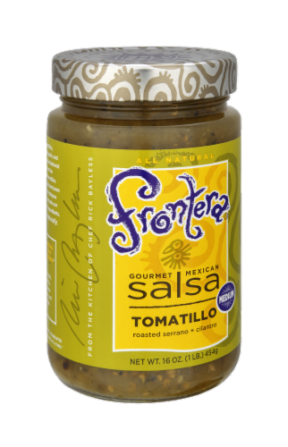 Frontera Gourmet Mexican Tomatillo Medium Salsa Perspective: left