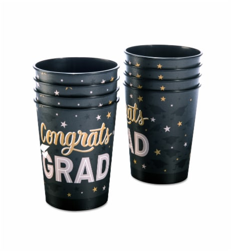 American Greetings Graduation Party Cups Perspective: left