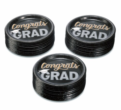 American Greetings Graduation Party Paper Dinner Plates Perspective: left