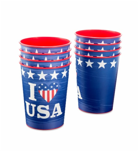 American Greetings Patriotic Party Cups Perspective: left