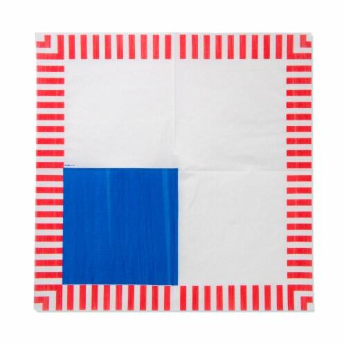 American Greetings Patriotic Paper Napkins Perspective: left
