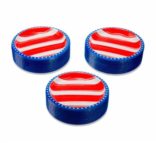 American Greetings Patriotic Paper Dinner Plates Perspective: left