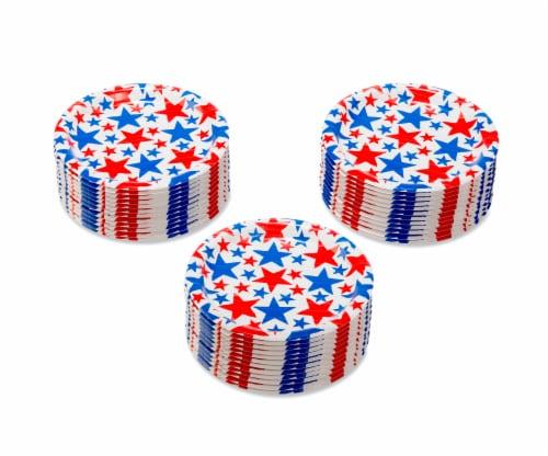 American Greetings Patriotic Paper Dessert Plates Perspective: left