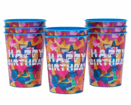 American Greetings Confetti Birthday Party Stadium Cups Perspective: left