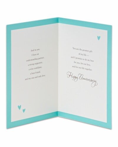 American Greetings Wedding Anniversary Romantic Card (Greatest Gift) Perspective: left