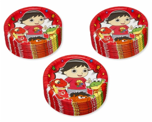 American Greetings Ryan's World Paper Dinner Plates Perspective: left