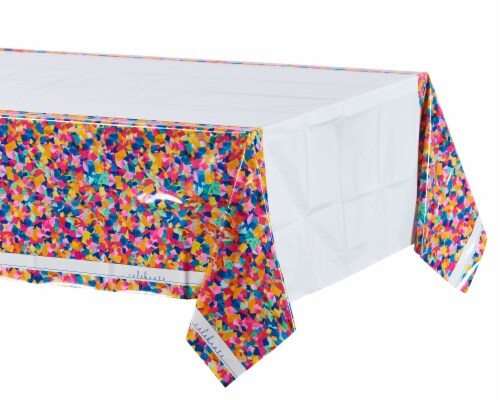 American Greetings Confetti Birthday Table Cover Perspective: left