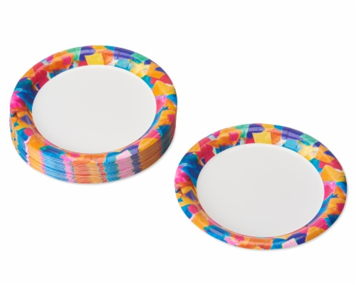 American Greetings Confetti Birthday Party Dessert Plates Perspective: left
