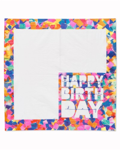American Greetings Confetti Birthday Paper Napkins Perspective: left