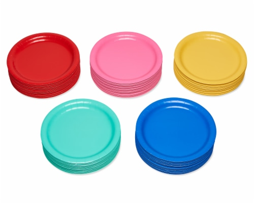 American Greetings Assorted Colors Paper Plates Perspective: left