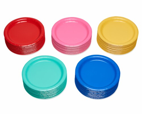 American Greetings Assorted Colors Paper Dessert Plates Perspective: left