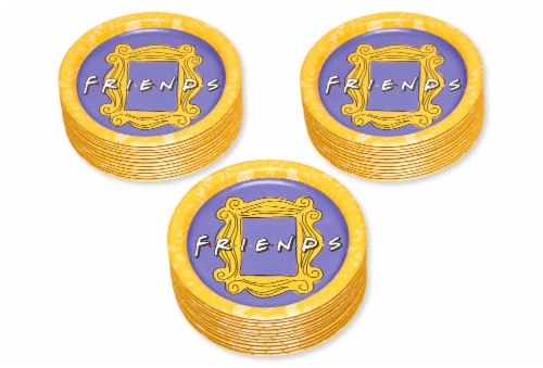 American Greetings Friends Dinner Plates Perspective: left