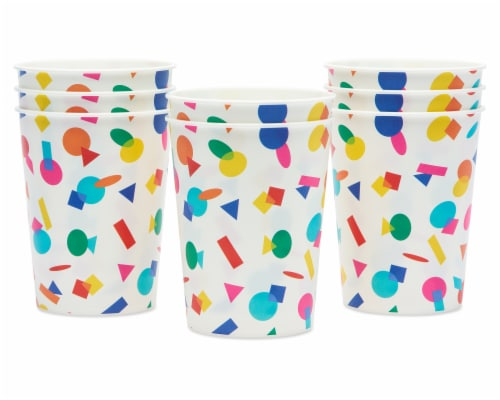 American Greetings Rainbow Party Cups Perspective: left