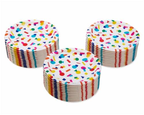 American Greetings Rainbow Dessert Plates Perspective: left