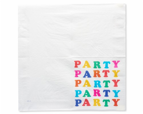 American Greetings Rainbow Lunch Napkins Perspective: left
