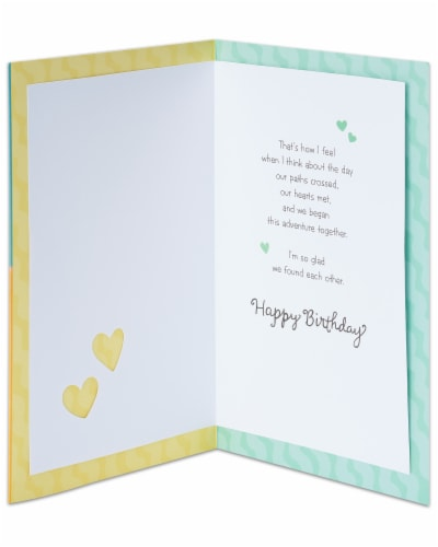 American Greetings Romantic Birthday Card (Right Place Right Time) Perspective: left
