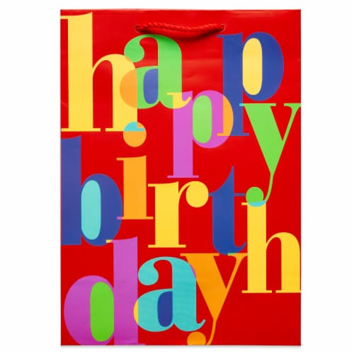 American Greetings #6 Birthday Lettering Gift Bag Perspective: left