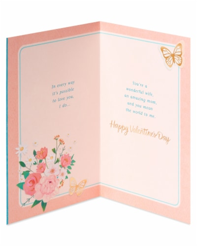 American Greetings #64 Valentine's Day Card for Wife (Butterflies) Perspective: left