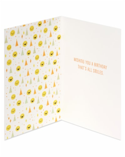 American Greetings #62 Birthday Card (Smiley Faces) Perspective: left