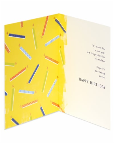 American Greetings #60 Birthday Card (Make a Wish) Perspective: left