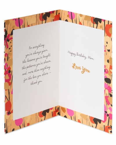 American Greetings #23 Birthday Card for Mom (Grateful) Perspective: left