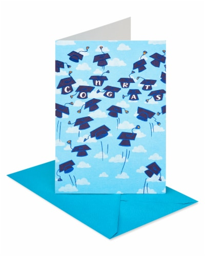 American Greetings #61 Graduation Cards (Grad Caps) Perspective: left