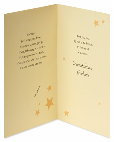 American Greetings #63 Graduation Gift Card Holder (Success) Perspective: left