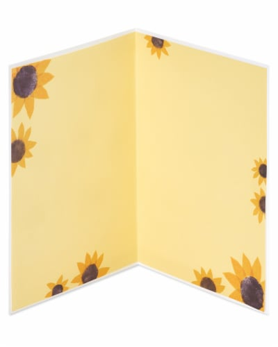Papyrus #46 Thinking of You Card (Sunflower Girl) Perspective: left