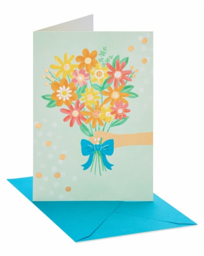 American Greetings #37 Thank You Card (Bouquet) Perspective: left