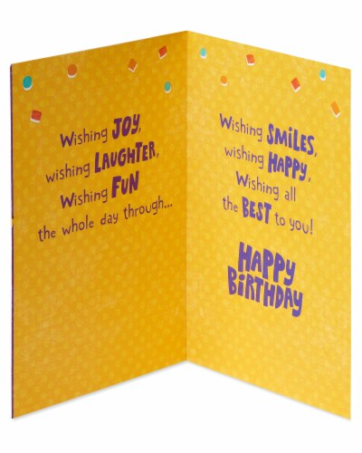 Amercan Greetings #59 Birthday Card (Sweet Birthday Wishes) Perspective: left