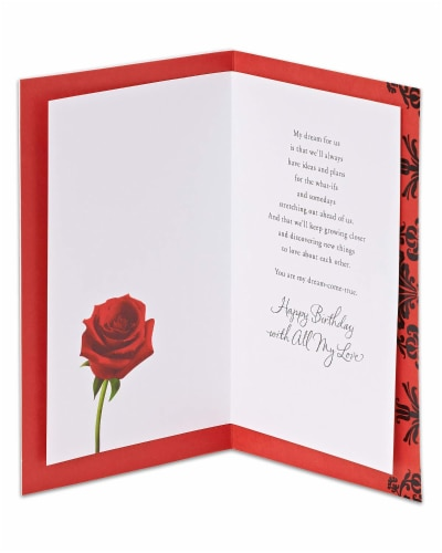 American Greetings Birthday Card (Love Letter) Perspective: left
