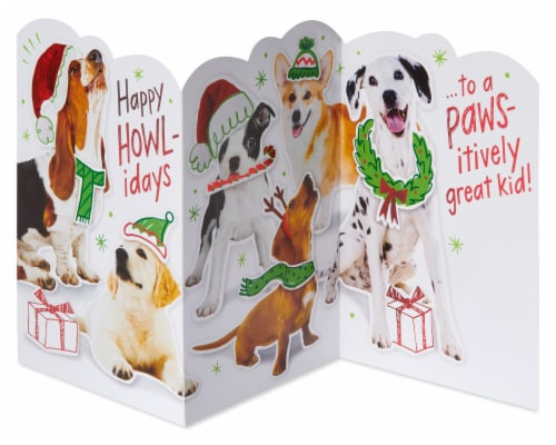 American Greetings Christmas Card (Happy Howl-idays) Perspective: left