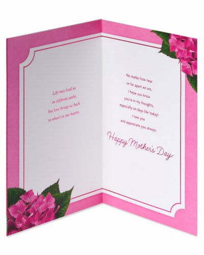 American Greetings #60 Mother's Day Card (Grateful) Perspective: left